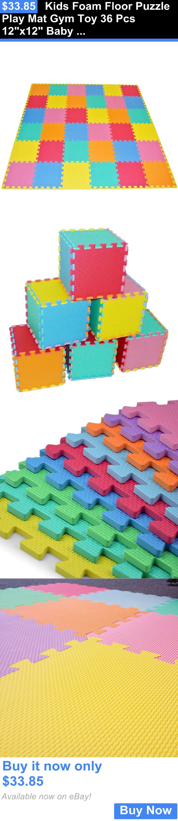 baby kid stuff: Kids Foam Floor Puzzle Play Mat Gym Toy 36 Pcs 12X12 Baby Toddler Soft Playmat BUY IT NOW ONLY: $33.85