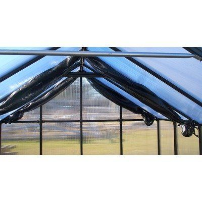 "Greenhouse Internal Shade Cloth [Set of 11] Size: 288"" W x 288"" D by Riverstone Industries. $299.99. MONT-24-SC Size: 288"" W x 288"" D Features: -Shade cloth.-Material: 63pct Commercial Grade.-Operates from inside of greenhouse.-Easy pull back with use of bungie balls.-Works great with all roof vents.-Will keep greenhouse cool by reflecting heat and sunlight.-Simple, unique and thoughtful design.-Proudly made in the USA. Assembly Instructions: -Quick assembly. Dimensions: -8 Fe..."
