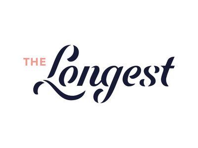 The Longest. script logo design typography