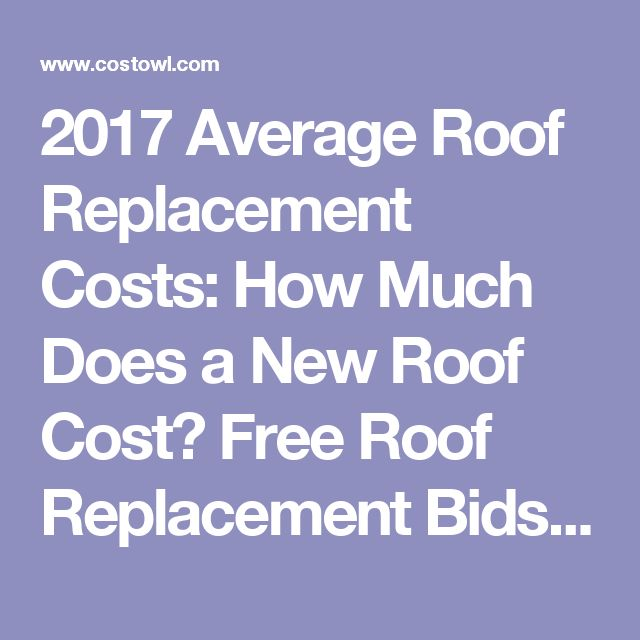 2017 Average Roof Replacement Costs: How Much Does A New Roof Cost? Free  Roof