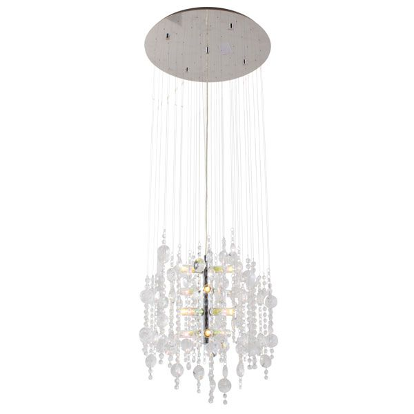 Eurolux P383 - Alexandria 12 Light Crystal Pendant with Cable Suspension