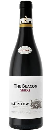 """Fairview """"The Beacon"""" Shiraz 2008 via Wine.co: """"From a single Paarl vineyard is the proverbial iron fist in a velvet glove. Nuanced and complex with spicy pepper and violets over liquorice and juicy black fruit. Gentle and seamlessly lithe yet powerful, dark and dense."""""""