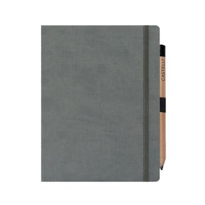 Image of Branded Castelli Eldorado Large Ruled Notebook With Expandable Inside Pocket