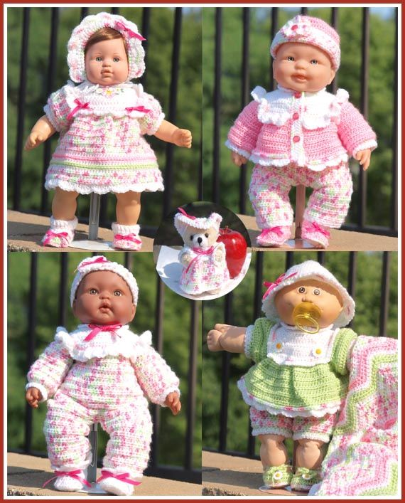 looking for doll clothes for the cabbage dolls croched free patterns | Cabbage Patch Kids® models are used with permissionfrom copyright ...