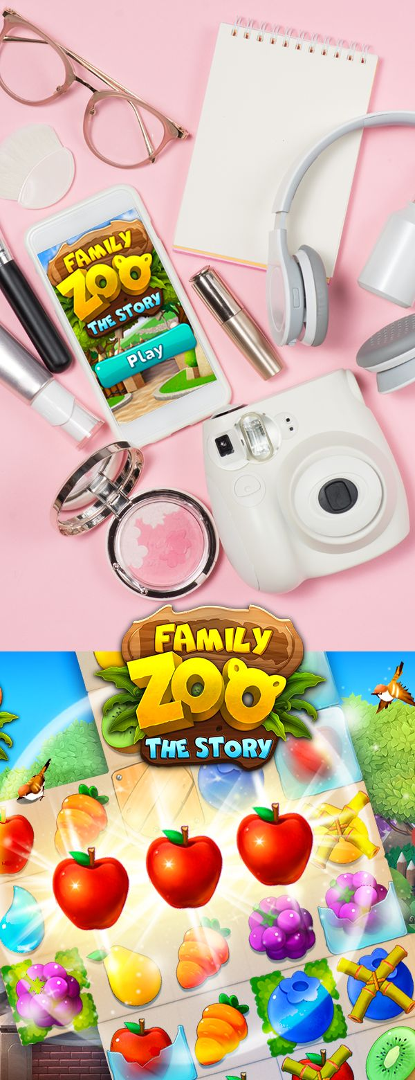 Build a zoo & play with cute animals! Match 3 puzzle game