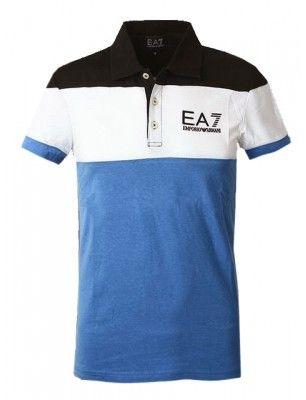 Armani Polo hombre EA7   azul