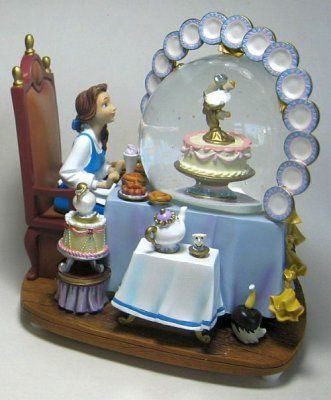 Belle's Be Our Guest musical snowglobe from Fantasies Come True