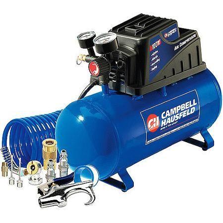 Campbell Hausfeld 3 Gallon, 110psi Air Compressor & 11pc Accessory Set Bundle - Walmart.com
