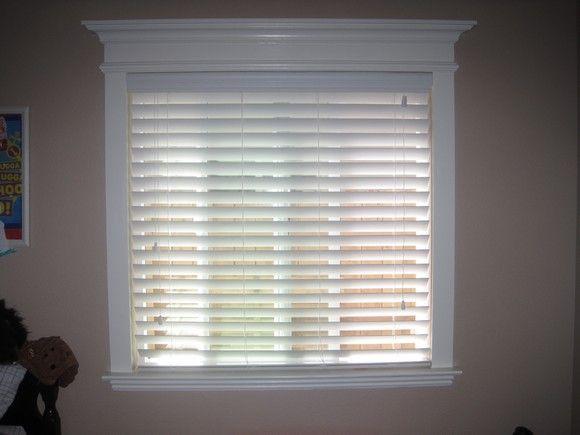 Add crown molding to windows house stuff pinterest for Window design molding