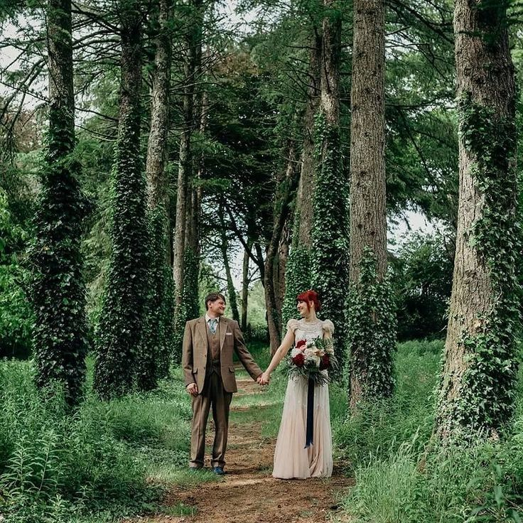When your wedding venue has the most beautiful woodland imaginable it would be rude not to sneak off for some pictures with your photographer. Looking back on our photos again to an amazing day at @coombetrenchard with @clarekinchinphotography ... I need to find an excuse to wear my dress again! Although I may need to examine how much me dancing like a lunatic took its toll first!