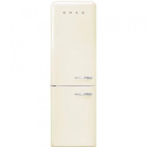 Refrigerateur Combine Smeg Vintage Fab32lcr3 Creme Charniere A Gauche En 2020 Refrigerateur Combine Smeg Refrigerateur