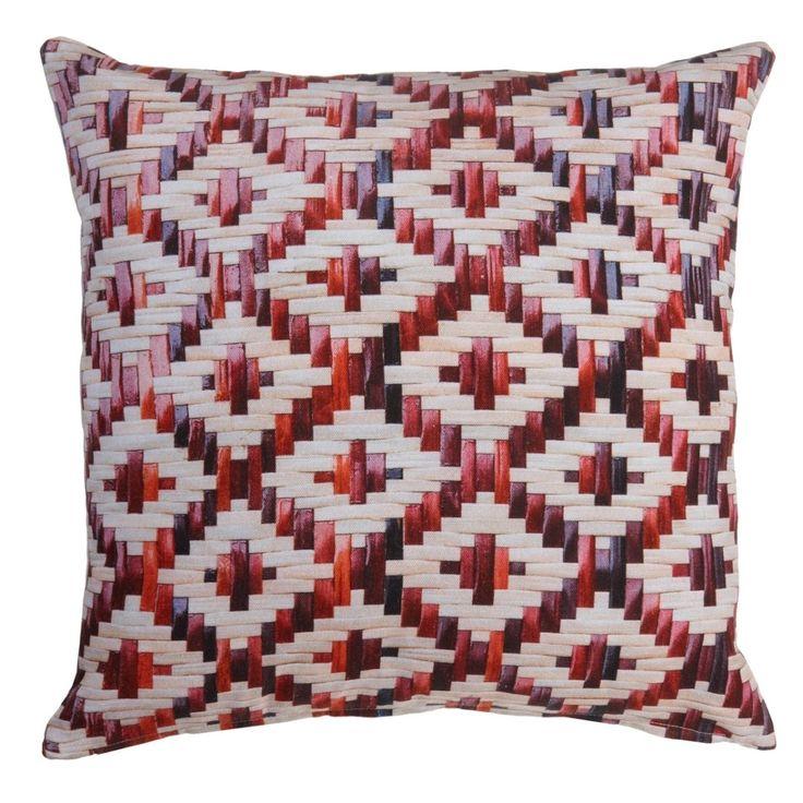 KAAT Amsterdam Red Weaving Sierkussen 40x40 cm - Rood
