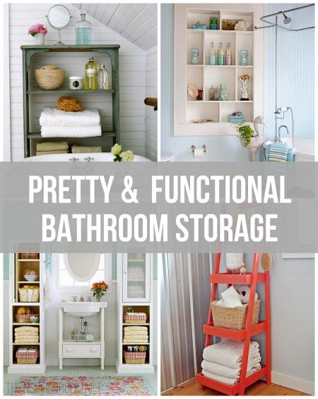 Pretty and Functional Bathroom Storage Ideas from The Inspired Room