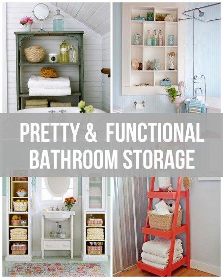 Pretty functional bathroom storage ideas for Pretty bathroom ideas