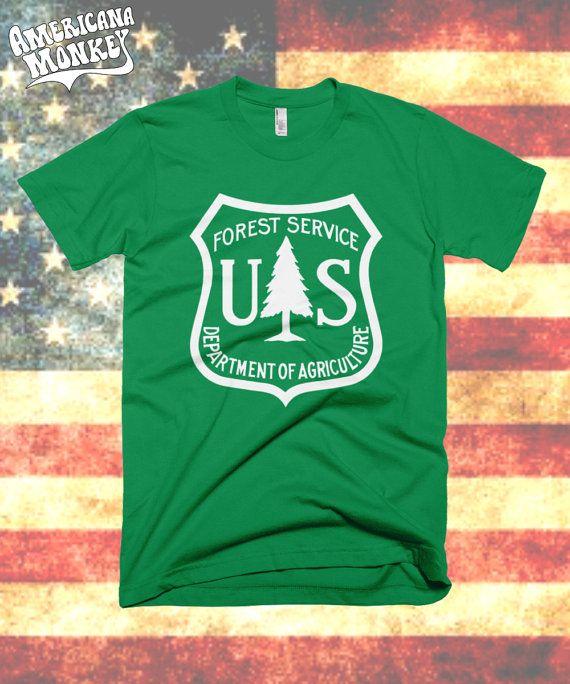 United States Forest Service logo t shirt  US by AmericanaMonkey