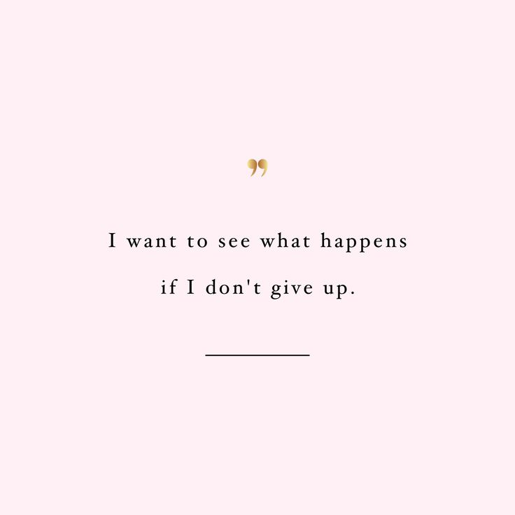 keep going and see what happens