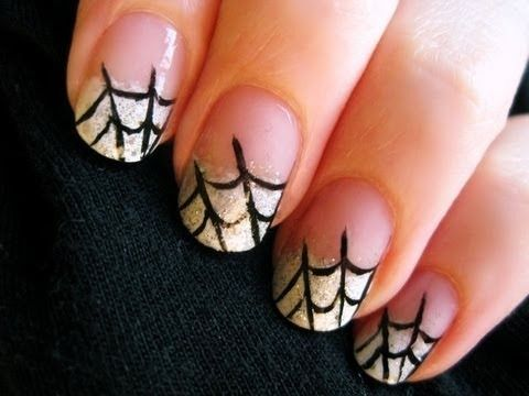 Spider Web Nail Art: Nails Art Tutorials, Spider Webs, Nailart, Nails Design, Halloweennail, Spiderweb Nails, Halloween Nails, Spiders Web, Nails Tutorials