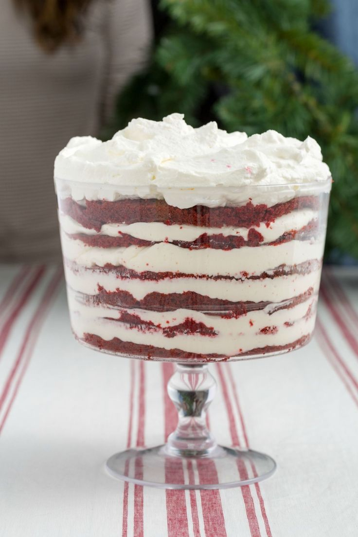 This Red Velvet Cheesecake Trifle Is Everything You Ever Wanted Christmas To Be  - Delish.com