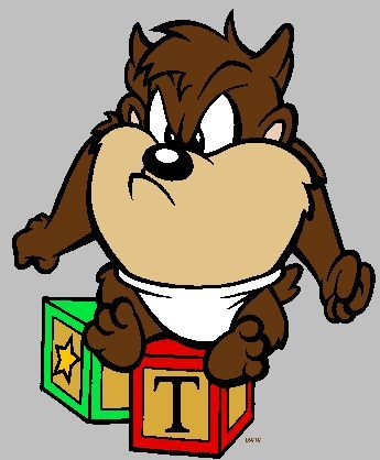 Looney toons taz baby looney tunes clipart quality - Tasmanian devil cartoon images ...
