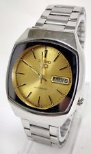 Vintage Seiko 5 Automatic 17j Movement No.7009A Japan Made Men's Watch..