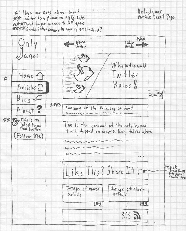 Web and Mobile Wireframe Sketches (4)