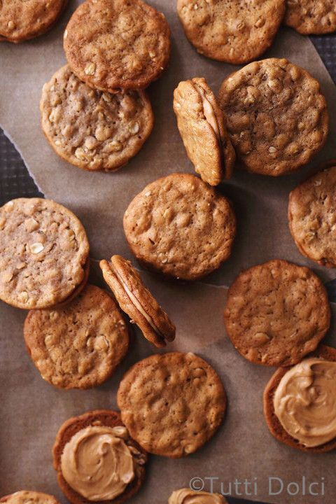 Cookie Butter Sandwich Cookies | Tutti Dolci: Oatmeal Cookies, Cookies ...