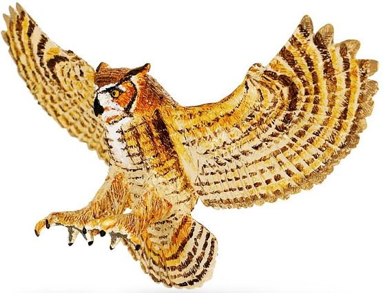 Safari Ltd. Wings Of The World 264429 - Great Horned Owl