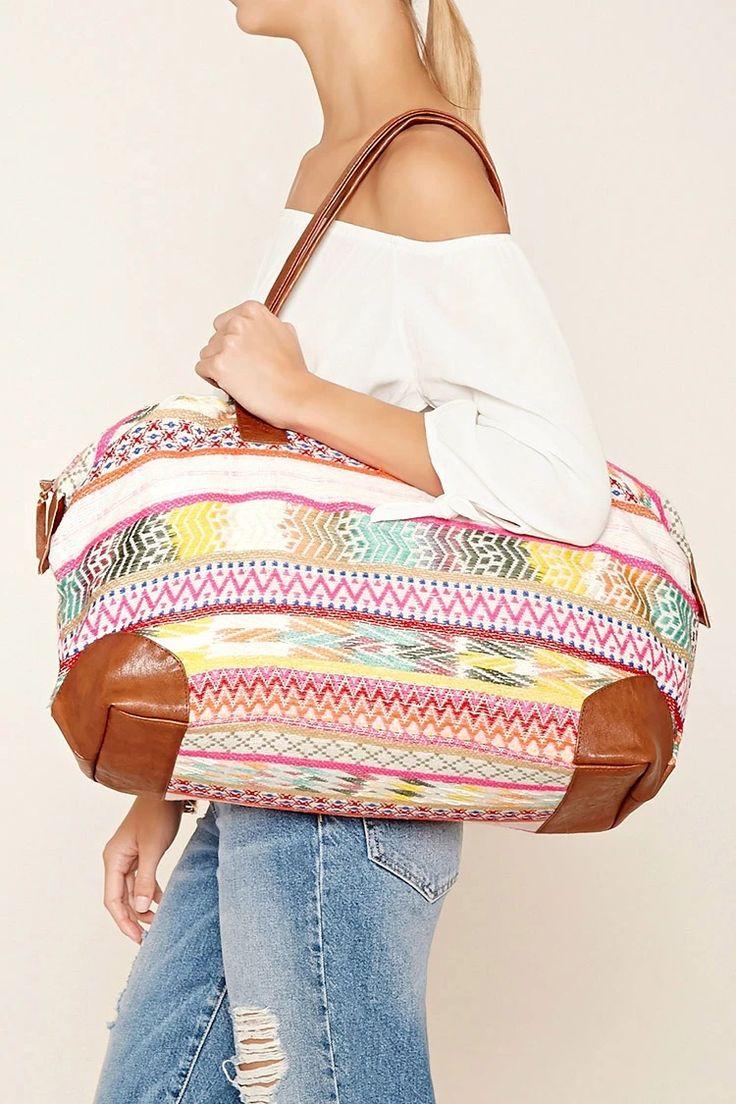 RAJ Zigzag Woven Duffle Bag #f21brandedshop