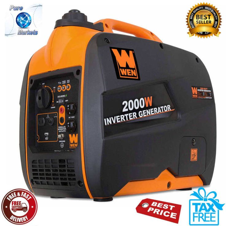 Portable Inverter Generator Super Quiet 2000-Watt CARB Compliant Light Weight