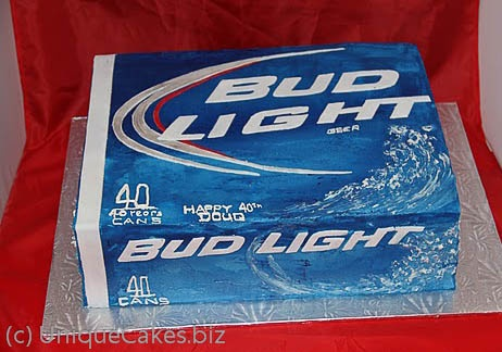 Bud light cake! I attempted to make this cake for Stephen last yr...and failed. Maybe I'll just pay to have one made this year