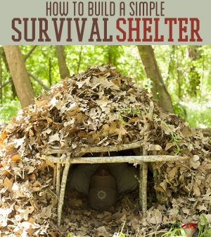How to Build a Simple Survival Shelter | Learn how to survive outdoors at survivallife.com