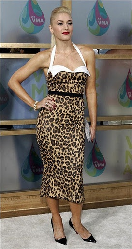 Gwen Stefani's leopard dress