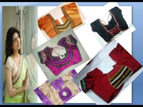 50 latest indian sariee blouse neck and puff hand models for women