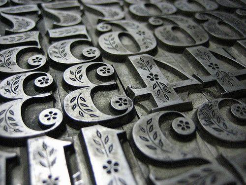 Metal letterpress, gorgeous!