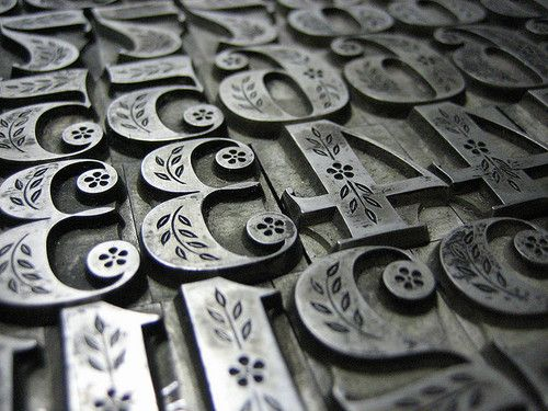decorative metal type