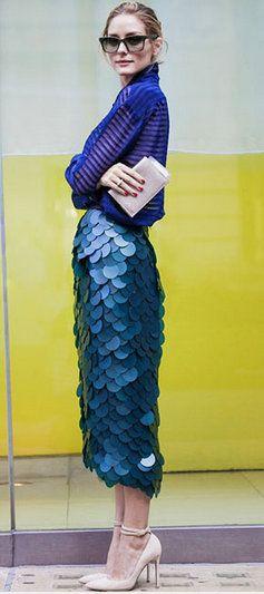 Olivia Palermo - Love the skirt! Would make me feel like a mermaid :-)