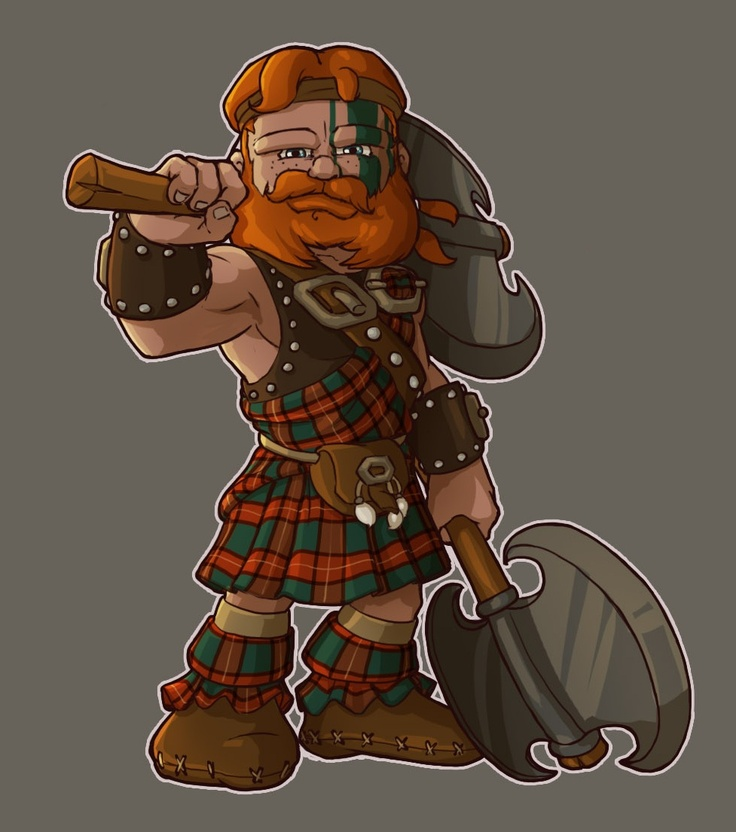Barbarian Scottish warrior | Celtic - 128.4KB