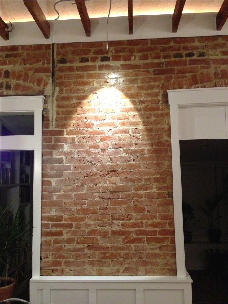 Reclaimed Brick With Wainscoting House Ideas
