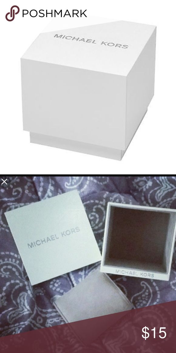 Michael Kors white watch box with purple interior Perfect condition white Michael Kors watch box with purple pillow insert and booklet ! MICHAEL Michael Kors Other