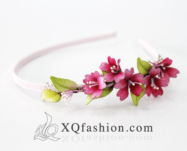 Cherry blossom hand embroidery headband by XQFashion.deviantart.com XQfashion.com @cherryblossom @handembroidery @embroidery