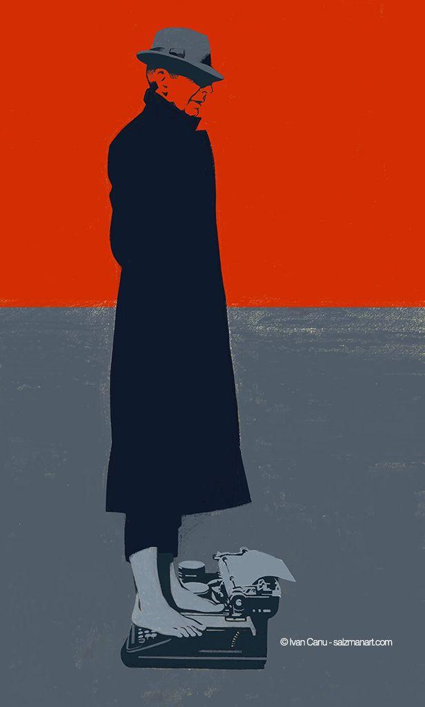 Leonard Cohen, @Ivan Canu @salzmanart.com #portrait #music #poetry #poem #literature #songs #sorrow #pain