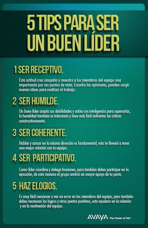 5 consejos para ser un buen líder #infografia #infographic