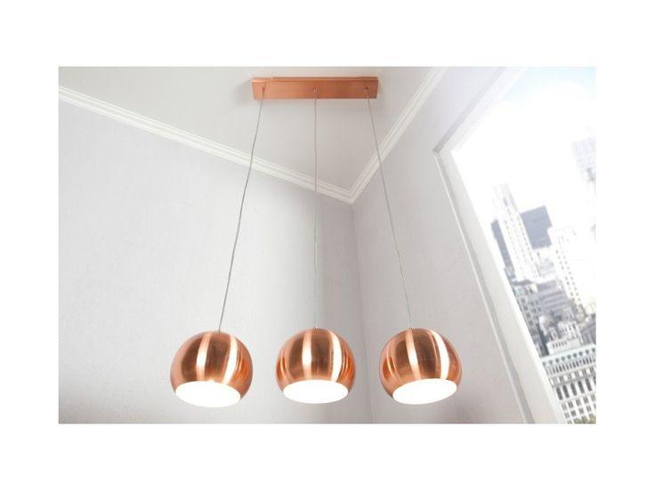 Lampa Wisząca Copper Ball 3er — Lampy wiszące Invicta Interior — sfmeble.pl