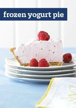 Frozen Yogurt Pie — This refreshingly easy dessert recipe can be ...