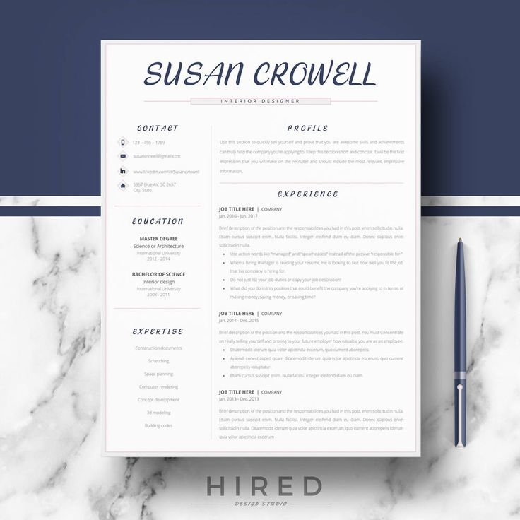 creative resume template professional resume for word 1 2 3 page resume - Resume La Science Des Reves