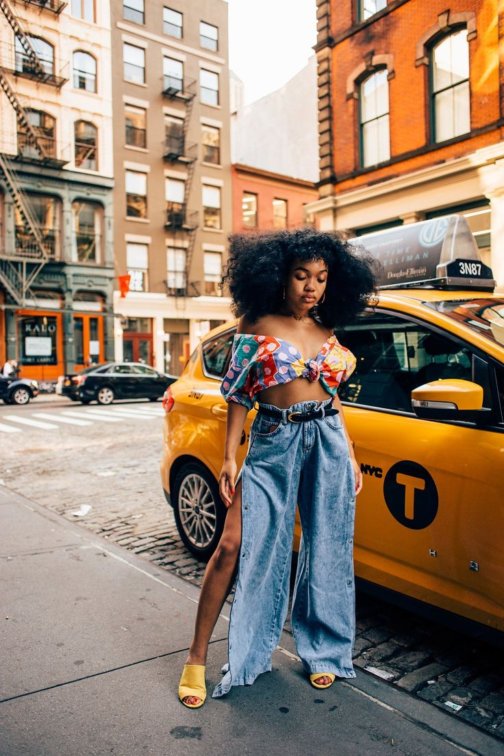 Afro Punk Fashion Inspiration Black Girls Ideas For 2019 Afro Punk Fashion, 70s Fashion, Look Fashion, Fashion Outfits, Fashion Trends, Denim Fashion, Fashion Styles, Fashion Women, Denim Vintage