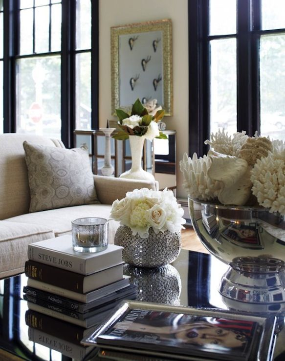 Beautiful Living Room With Lovely Styled Accessories On The Coffee Table.  York House Design Daredevil 15 Www.
