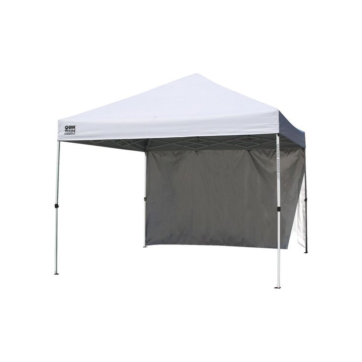 Quik Shade Commercial C100 10X10 Instant Canopy w/ Wall Panel - White Clear  sc 1 st  Pinterest & The 25+ best Instant canopy ideas on Pinterest | First up canopy ...