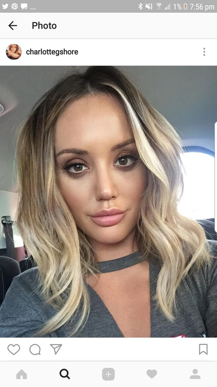 #Charlotte #Crosby #hair #short #blonde #ombre