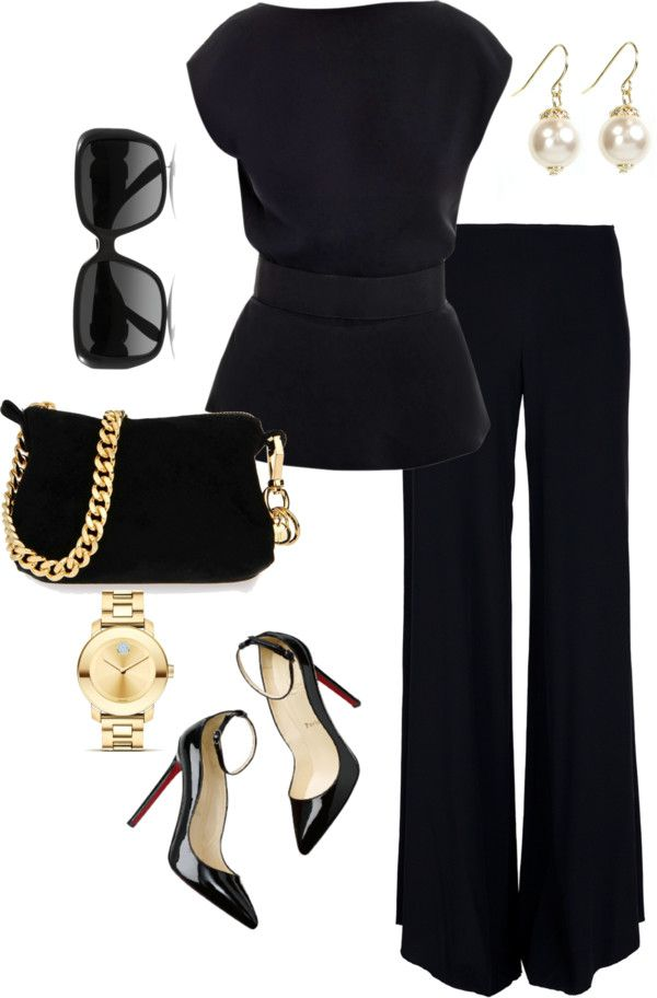"""Back(less) in Black"" by anniepro ❤ liked on Polyvore"